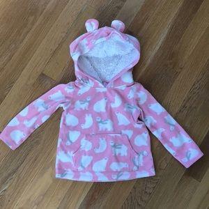 Carter's Shirts & Tops - Fleece polar bear hoodie